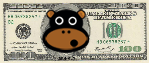 MONKEY-dollar-bill