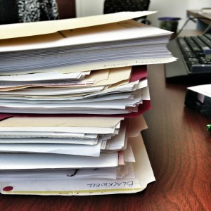 pile of license material