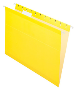 yellow hanging folder
